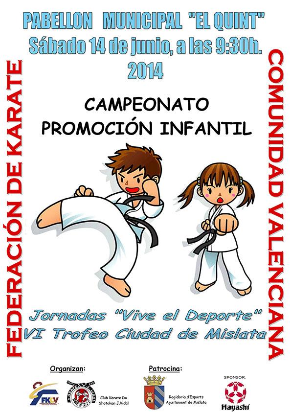 Cartel Promocion - Trofeo de Karate Vive el Deporte de Mislata