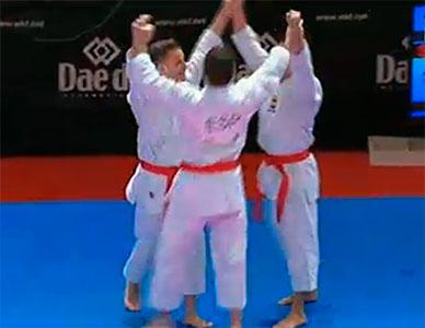 Equipo masculino de katas España Campeones del Mundo