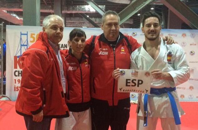 Damian Quintero y Sandra Sánchez pasan a la final del Campeonato Europeo de Karate Senior 2015